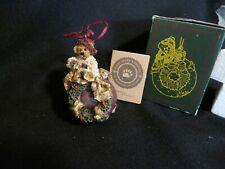 1996 Boyds Bears Resin Christmas Ornament #25700 Edmund Deck The Halls Retired