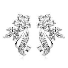 Pretty Stud Earrings Women 925 Silver Jewelry White Sapphire Jewelry A Pair/set