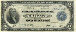 Federal Reserve National Currency $2 Dollars FR 767 Banknote 1918
