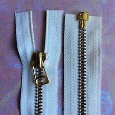 58 cm Cream metal jacket zip zipper  (#311)