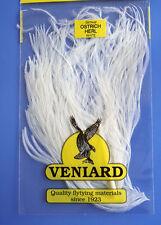 Straußenfeder Ostrich Teilstück aus Prachtfeder Fiberlänge 10 - 15 cm WHITE