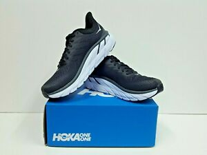 HOKA ONE ONE CLIFTON 7 Women's Running Shoes Size 8 (1110509 BWHT) NEW