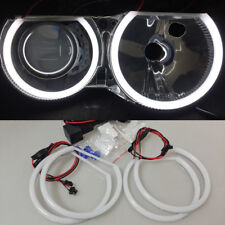 White 6500K Halo Ring Cotton Light SMD LED Angel Eyes For BMW E46 Non Projector