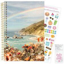 2021 Rainbow Coast Calendar Year Daily Planner Agenda 12 Month Jan - December