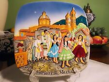 John Beswick/Royal Doulton Vintage 1973 Christmas In Mexico Decorative Plate