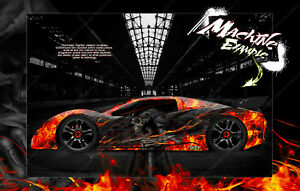 'HELL RIDE' GRAPHICS WRAP SKIN FITS TRAXXAS XO-1 TRA6411 CLEAR LEXAN BODY