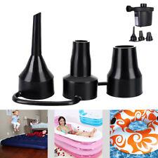 Plastic Pump Nozzle Head Air Inflator Adaptor Replacement Nozzles 3 Sizes DA
