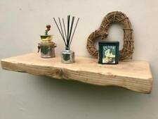 Floating Shelf - Concealed Brackets wooden rustic book shelves 12 inch x 3 Inch