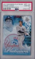 2017 BOWMAN PLATINUM PRESENCE AARON JUDGE ROOKIE CARD PSA 10