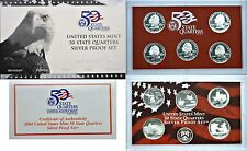 2004-S 5 Coin Silver Proof Quarter Set OGP W/COA Light Smokiness And Toning
