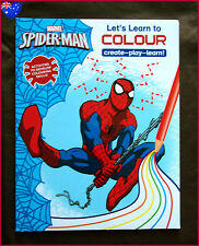SPIDER-MAN Let's Learn to Colour COLOURING BOOK - Create Play Learn Activity NEW