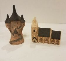 Phillip Laureston Uk Chalkware (2) castle watchtower and old church ceramics