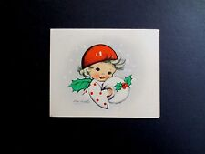 Vintage Unused Ars Sacra Xmas Greeting Card by Eva Harta ~ Cute Angel Smiling