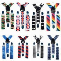 SPIRIUS Adjustable Kids Braces Trousers Suspenders Children Boys Girls Party