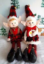 Large Sitting Elf Elves Christmas Decoration. 70cm .