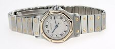 Cartier Santos Octagon Steel & Gold Wristwatch