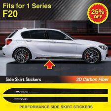 Für BMW F20 1-Serie M Performance Seite Schweller Grafik Aufkleber 3D Kohlefaser