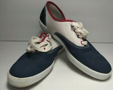 Keds Original Champion WHT/NVY/RED Star Canves Shoes Sneaker Size 10M Casual