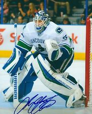 Signed  8x10 JACOB MARKSTROM Vancouver Canucks Autographed Photo - COA