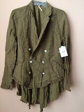 NWT $148 Free People Utility Military Jacket Coat Moss Green M