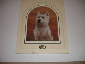 West Highland Terrier Limited edition. John Silver.Great Anytime/Birthday Gift