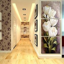 3 Pcs Tulip Flower Prints Oil Painting Picture on Canvas Wall Decor Art XL