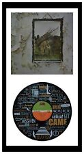 LED ZEPPELIN - MEMORABILIA - VINYL RECORD LYRIC ART + Cover - Stairway to Heaven