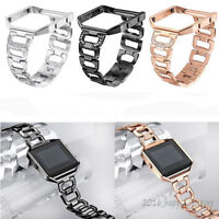 Lady Bling Rhinestone Stainless Steel Watch Wrist Band Strap For Fitbit Blaze