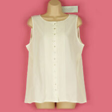 Polyester Semi Fitted Tops & Shirts for Women with Buttons