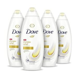 4 PACK DOVE BODY WASH FOR DRY SKIN EFFECTIVELY WASHES AWAY BACTERIA