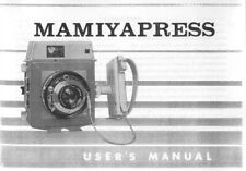 Mamiya Press Deluxe Instruction Manual photocopy