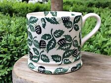 EMMA BRIDGEWATER rare Blackberries . Baby MUG . Blackberry . 1998 spongeware