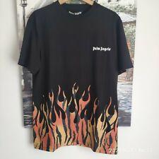 Men`s Palm Angels TIGER FLAMES TEE / BLACK(PMAA001E20JER0011020)  Size L