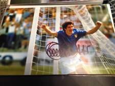 Paolo Rossi mano firmado 12 X 8 Foto Italia meta Juventus italiano de la Copa del mundo certificado de autenticidad