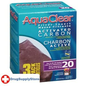 RA Activated Carbon Filter Insert for AquaClear 20/Mini - 3 pk