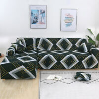 Elastic L Shape Sofa Cover 2pcs Seperate Couch Protector for Sectional L Sofa