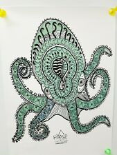 """Froody doodle Print limited run art work """"The grip of the Octopus"""" (like Banksy)"""