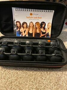 TopStyler by InStyler Heated Ceramic Styling Shells Hair Curlers & Case Works