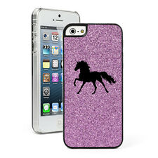 For Apple iPhone 4 4S 5 5S 5c GLITTER Bling Hard Case Cover Horse