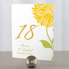 Personalized Zinnia Bloom Wedding Table Numbers