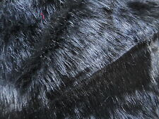 Solid Black Faux Fur Fabric Fashion Faux Fur Fabric Great for Carfts