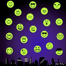 Wandsticker Smilie Lachen Grinsen XL Leuchtaufkleber Fluoreszierend leuchtend