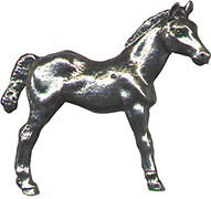 4 wholesale lead free pewter Horse figurines F6031