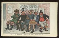 Political JOHN BULL Foreigners Moreland artist drawn 1904 PPC free trade comment