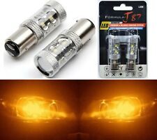 LED Light 50W 2357 Amber Orange Two Bulbs Front Turn Signal Replace Upgrade Lamp