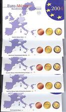 KMS, Kursmünzensätze 2004 aus Deutschland, spiegelglanz, PP, original, kpl ADFGJ