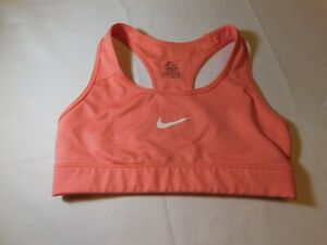 Nike Dri-Fit Junior's Women's Sports Bra Size XS xsmall coral peach EUC--