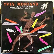 YVES MONTAND succes du recital 1958 LP Mint- XAR 270 France Herve Morvan Art