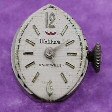 NON WORKING 25 Jewels Waltham Ladies Watch Movement For Parts/Repair