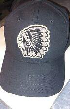 POLO RALPH LAUREN INDIAN HEAD STADIUM 1992 FITTED HAT MEDIUM BLACK NWOT
